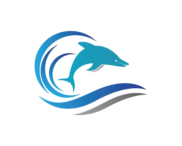 Logotipo do logotipo dolphin Vetor Premium