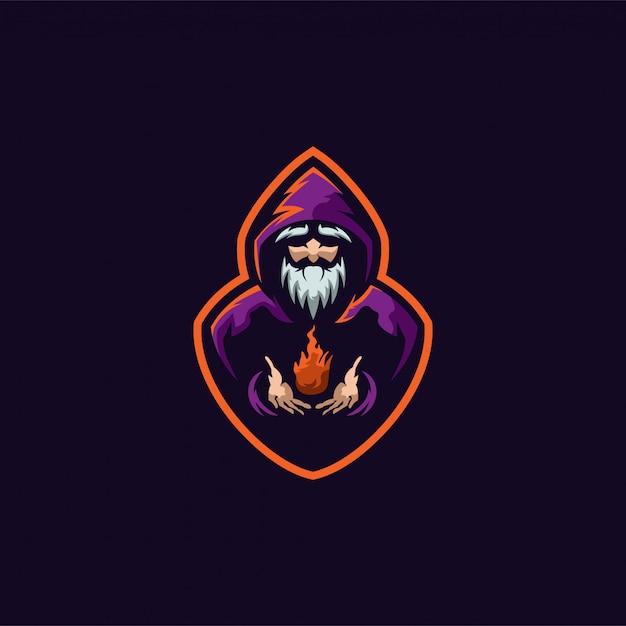 Logotipo do mago pronto para uso Vetor Premium