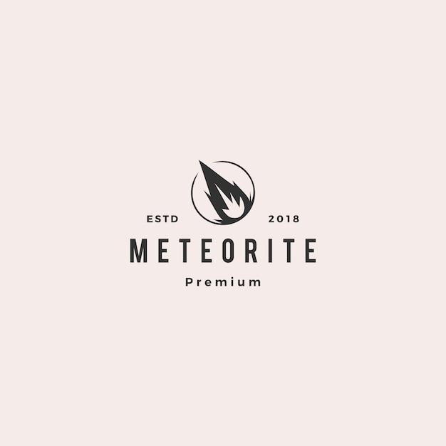 Logotipo do meteoro de impacto Vetor Premium