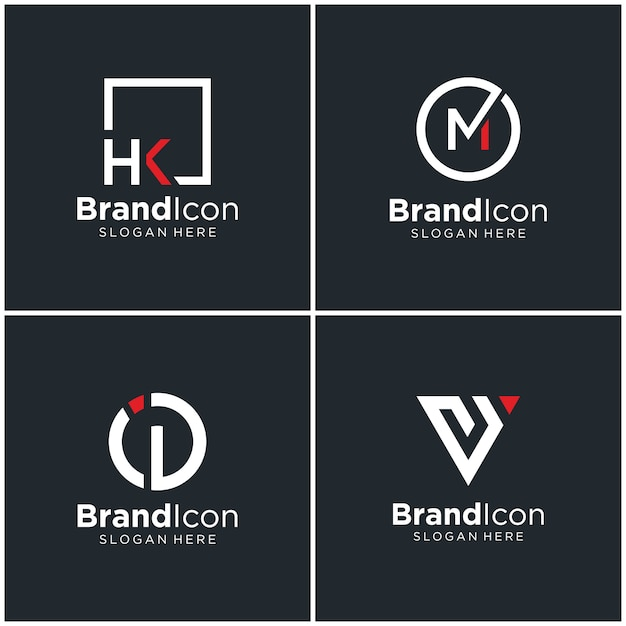 Logotipo do monograma Vetor Premium