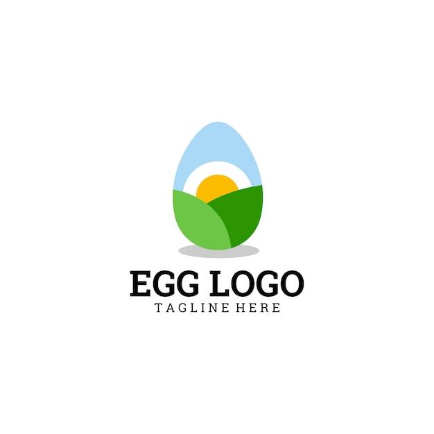 Logotipo do ovo Vetor Premium