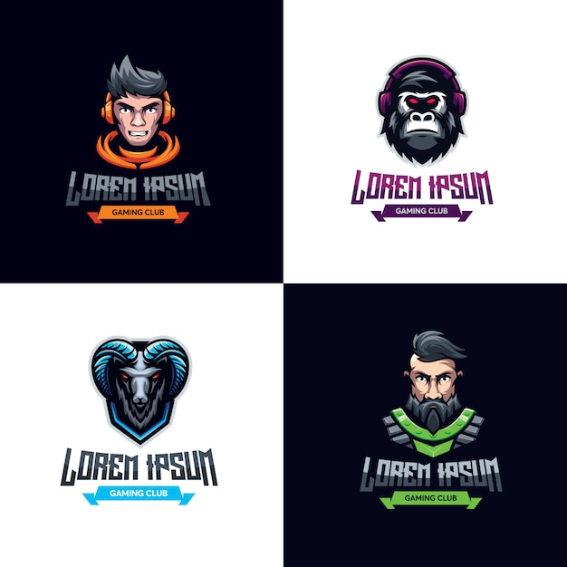 Logotipo do pacote premium de jogos Vetor Premium