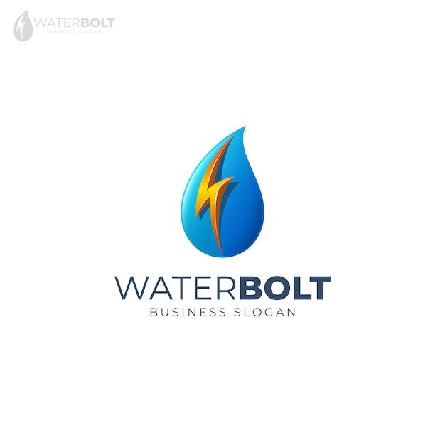 Logotipo do parafuso de água Vetor Premium