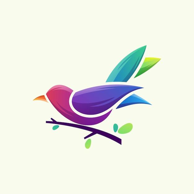 Logotipo do pássaro Vetor Premium