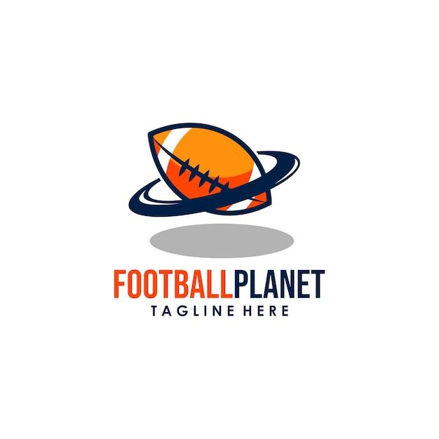 Logotipo do planeta Vetor Premium