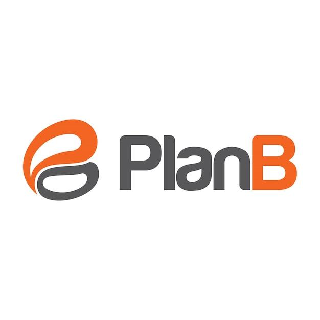 Logotipo do plano b Vetor Premium