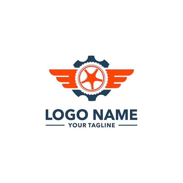 Logotipo do pneu Vetor Premium