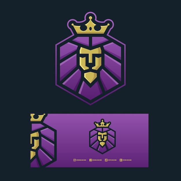 Logotipo do rei leão Vetor Premium