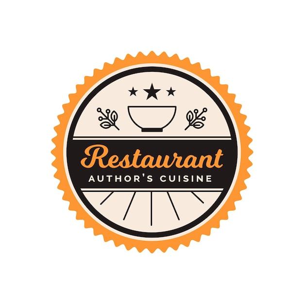 Logotipo do restaurante retrô Vetor grátis