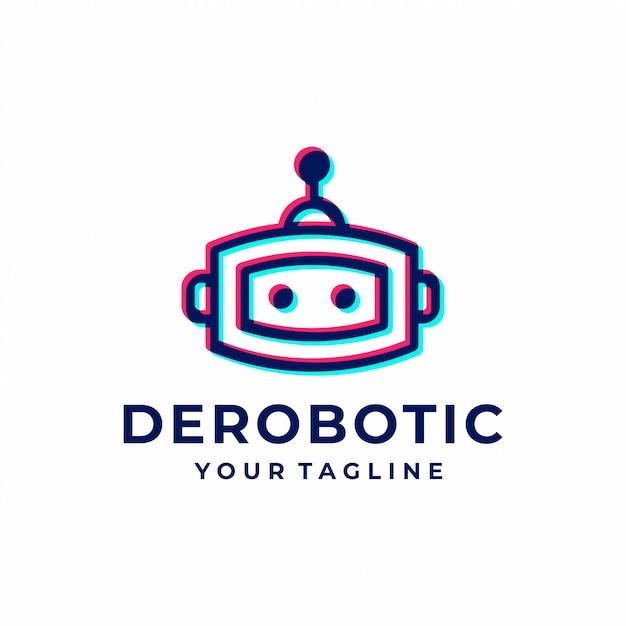 Logotipo do robô Vetor Premium