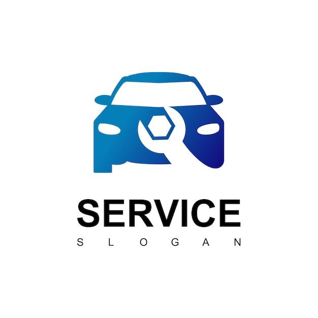 Logotipo do serviço de carro Vetor Premium