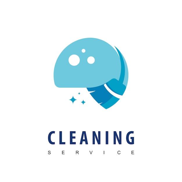 Logotipo do serviço de limpeza Vetor Premium