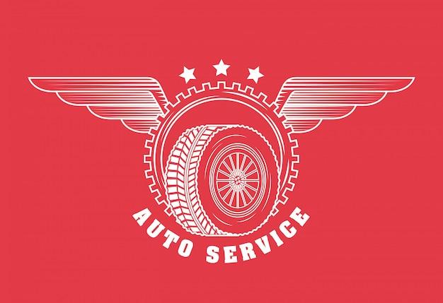 Logotipo do serviço de reparo automático Vetor grátis