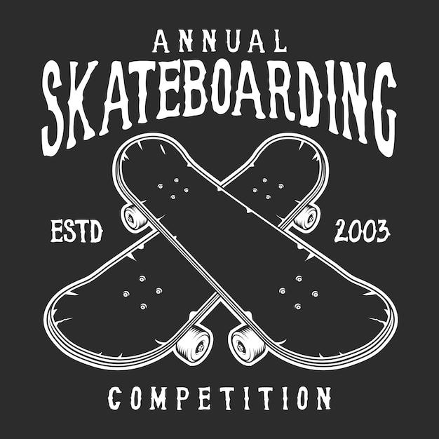 Logotipo do skate vintage Vetor grátis