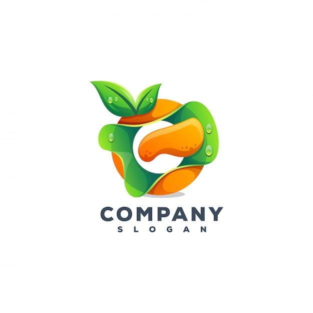Logotipo do suco Vetor Premium
