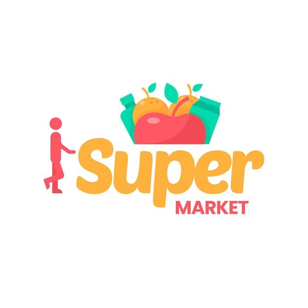 Logotipo do supermercado Vetor grátis
