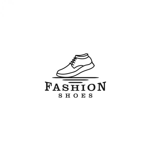 Logotipo do tênis, para lojas de sapatos ou atividades ao ar livre Vetor Premium