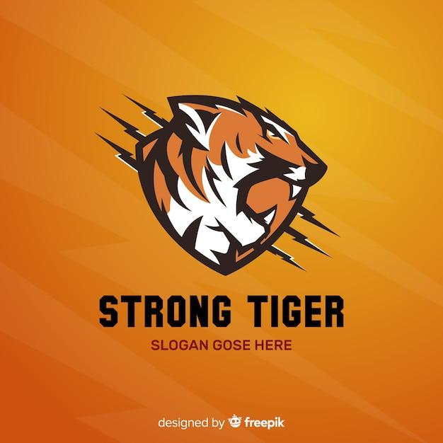 Logotipo do tigre forte Vetor grátis