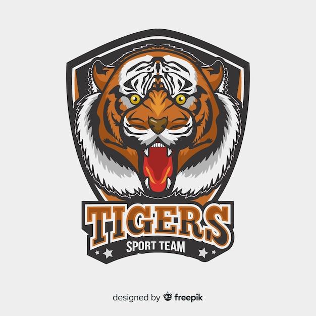 Logotipo do tigre realista Vetor grátis