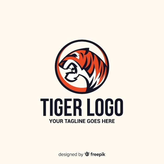 Logotipo do tigre rugindo Vetor grátis
