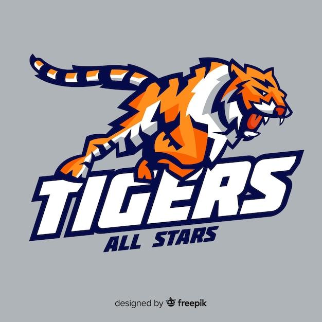 Logotipo do tigre Vetor grátis
