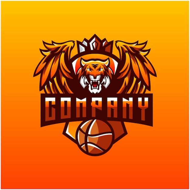 Logotipo do tigre Vetor Premium