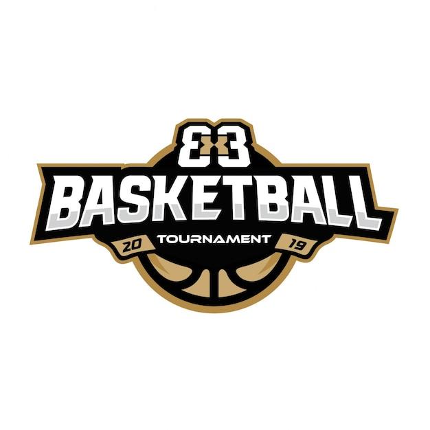 Logotipo do torneio de basquetebol Vetor Premium