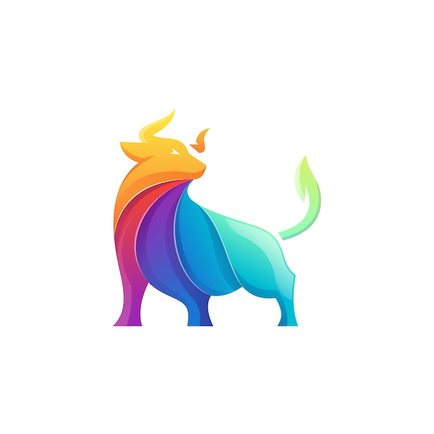 Logotipo do touro Vetor Premium