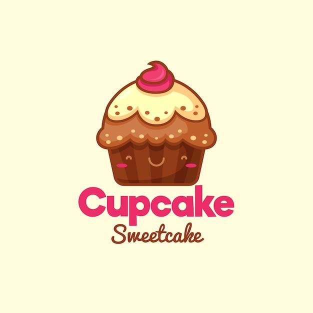 Logotipo doce cupcake Vetor grátis