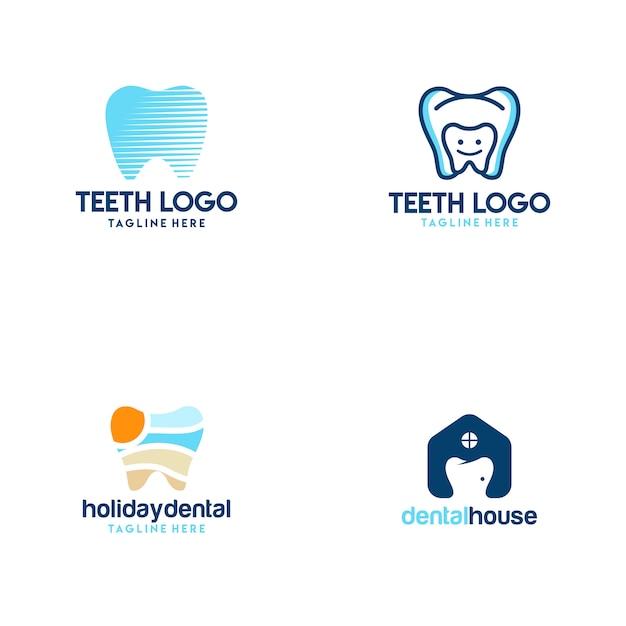 Logotipo dos dentes Vetor Premium