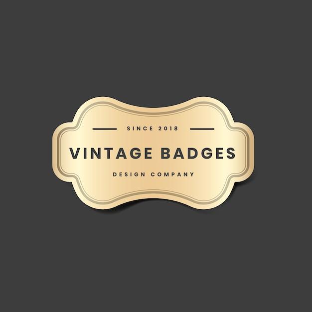 Logotipo dourado vintage Vetor grátis