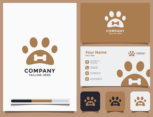 Logotipo e cartão de visita da pet shop Vetor Premium