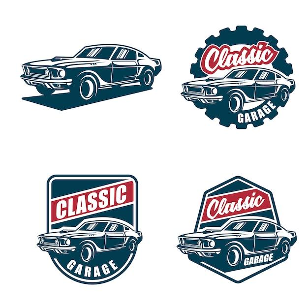 Logotipo e emblemas clássicos Vetor Premium
