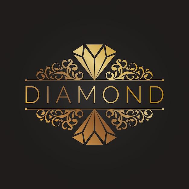 Logotipo elegante diamante Vetor grátis