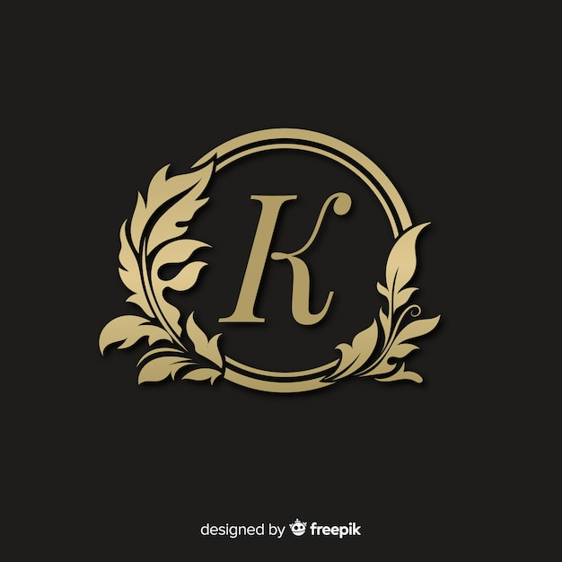 Logotipo elegante dourado com moldura Vetor grátis