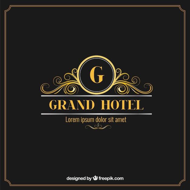 Logotipo elegante e luxuoso hotel baixar vetores gr tis for Color design hotel