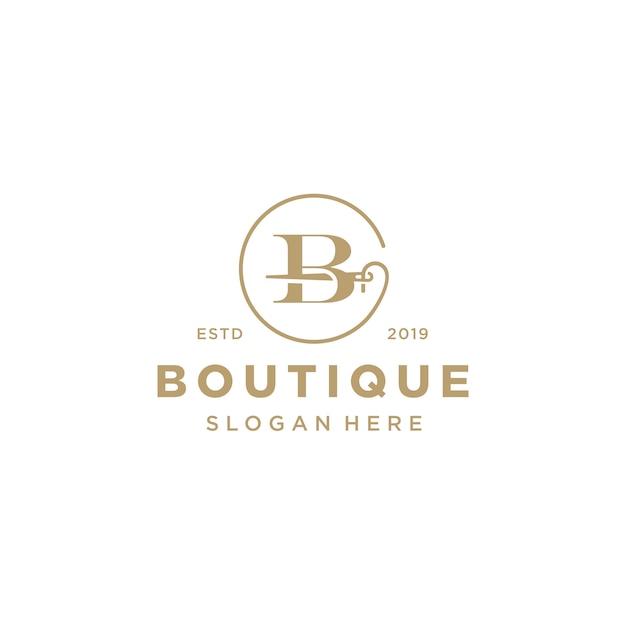 Logotipo elegante letra b Vetor Premium