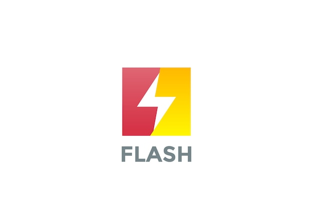 Logotipo em flash isolado no branco Vetor grátis