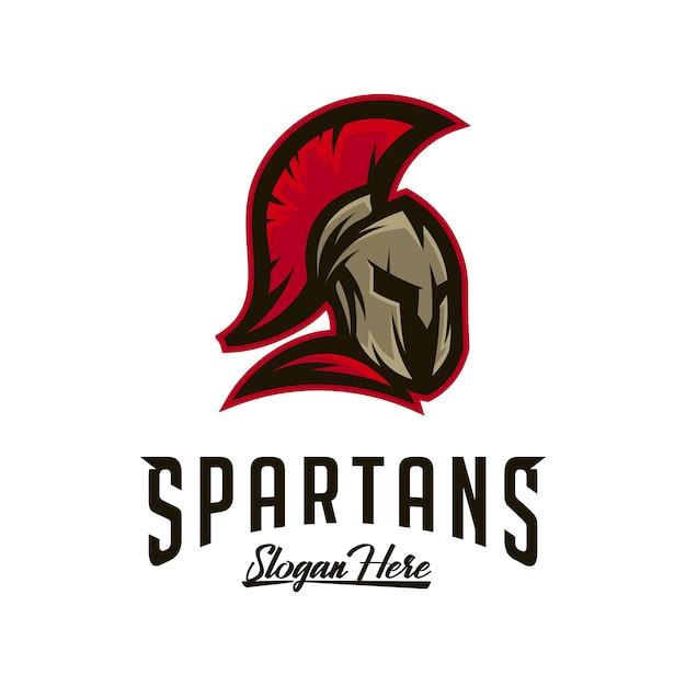 Logotipo espartano Vetor Premium