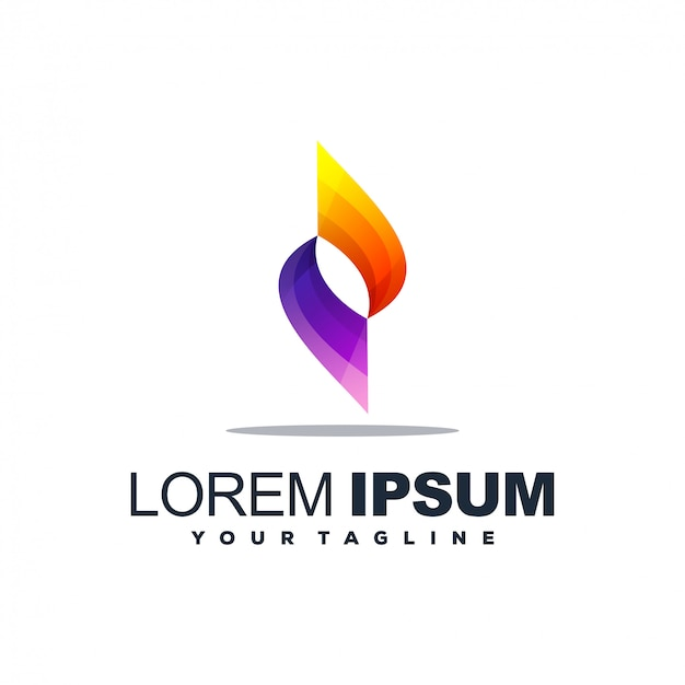 Logotipo gradiente abstrato impressionante Vetor Premium