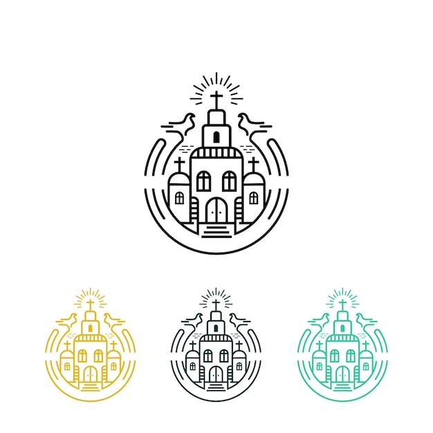 Logotipo holofote Vetor Premium