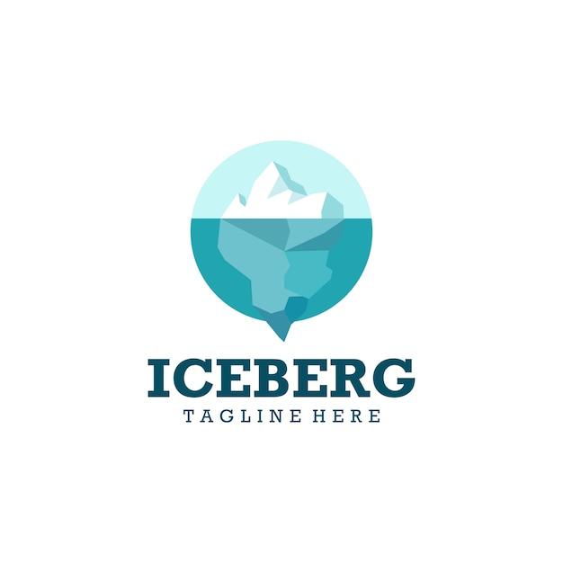 Logotipo iceberg pronto para uso Vetor Premium