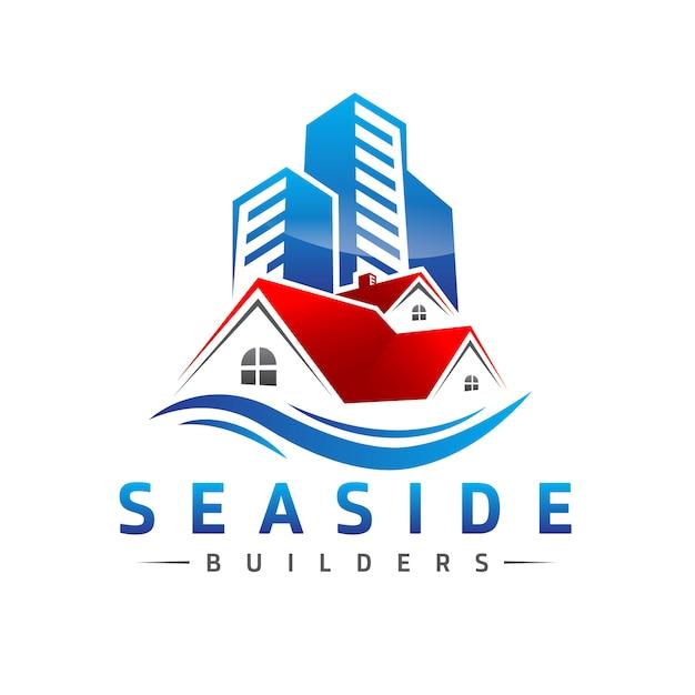 Logotipo imobiliário Vetor Premium
