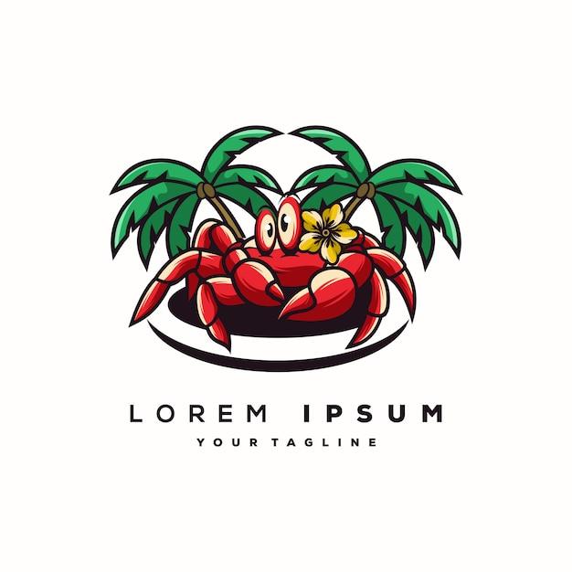 Logotipo incrível caranguejo Vetor Premium