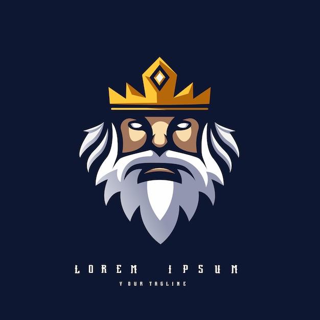 Logotipo king Vetor Premium