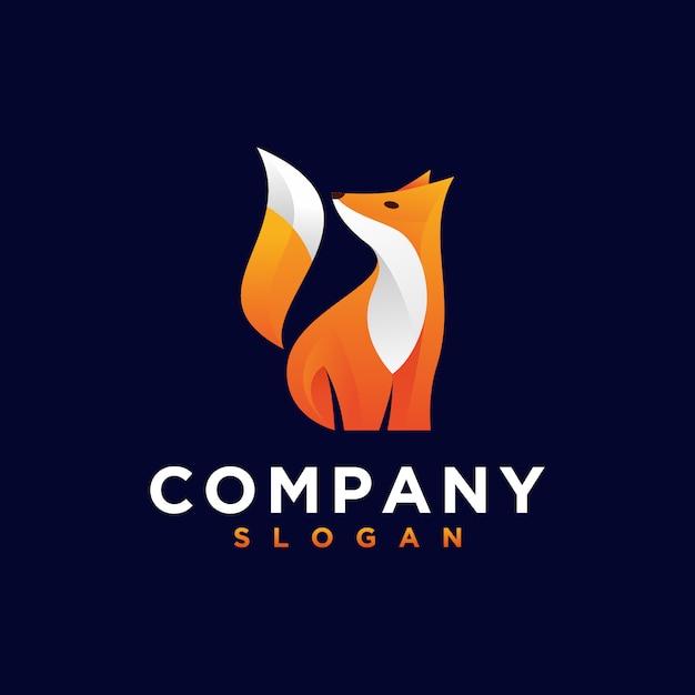 Logotipo laranja raposa Vetor Premium