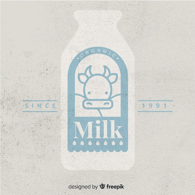 Logotipo leite orgânico Vetor grátis