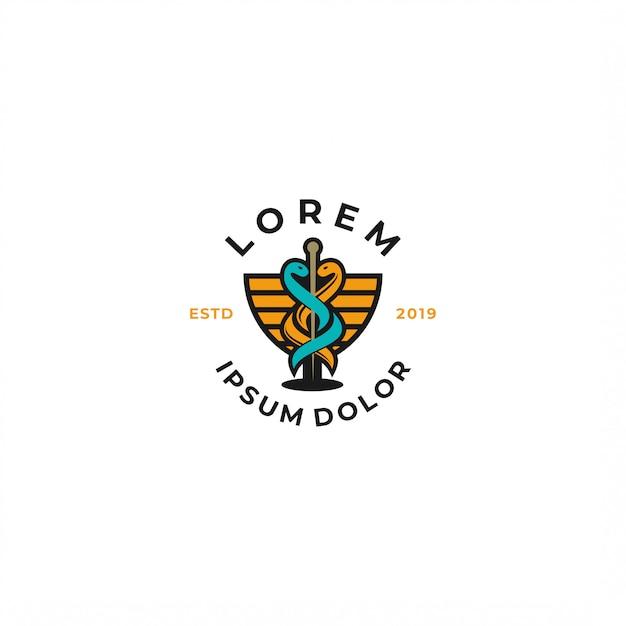 Logotipo médico Vetor Premium