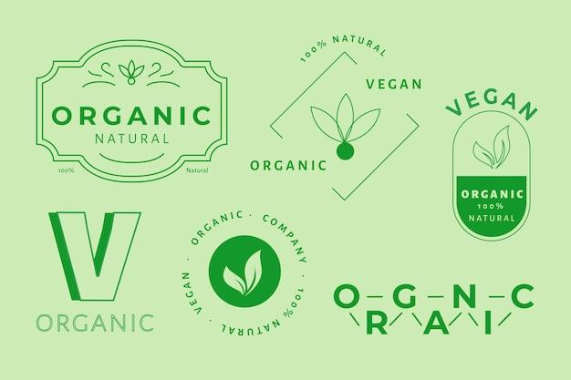 Logotipo mínimo definido em duas cores Vetor grátis