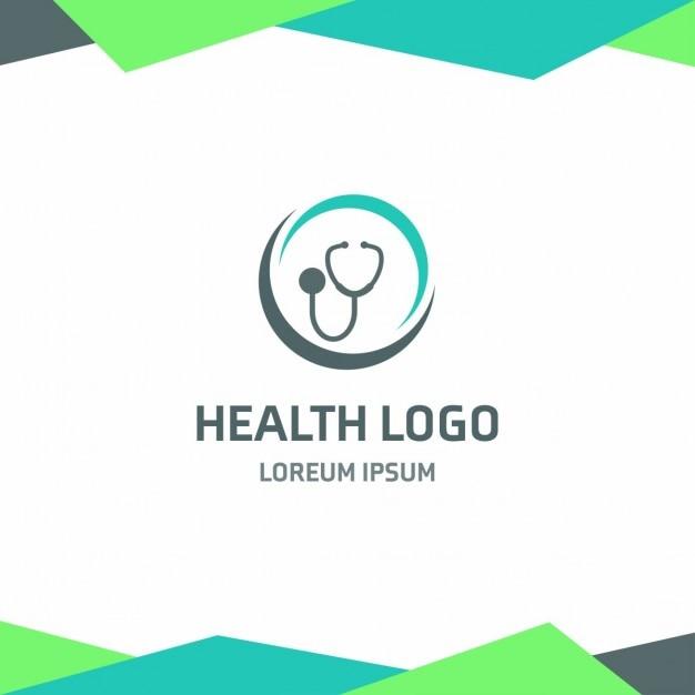 Logotipo modelo de saúde estetoscópio Vetor grátis